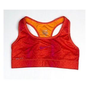 Nike Pro Dri Fit Orange Pink Sport Bra